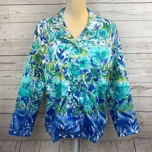 Coldwater Creek Tropical Breeze Floral Jacket